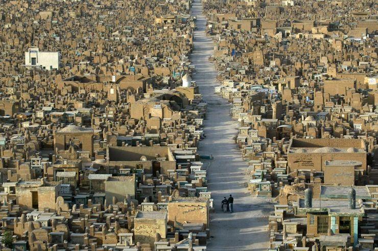 Wadi Al-Salam en Irak, el cementerio mas grande del mundo