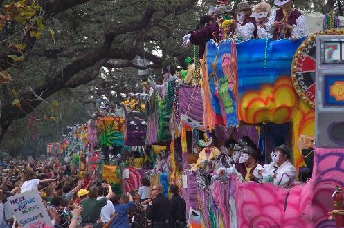 Mardi Gras Carnaval en Nueva Orleans