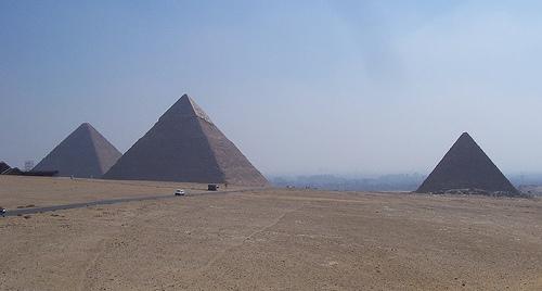 El recuerdo de las pirámides de Egipto