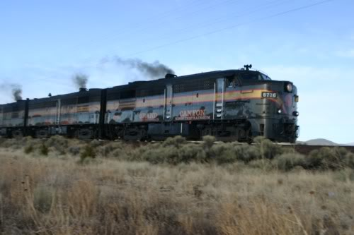 Tren de vapor al Gran Cañón