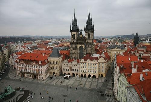 Las 27 cruces de la Ciudad Vieja de Praga