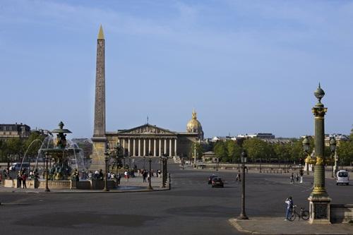 La plaza de la Concordia, antigua plaza de la Revolución