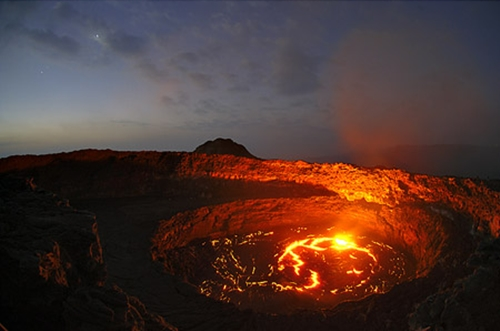 El lago de fuego de Etiopía