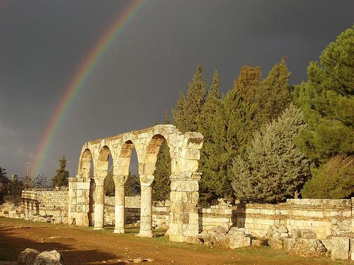 Las ruinas de Aanjar, en el Líbano