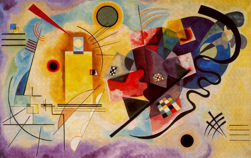 Amarillo-Rojo-Azul ( Kandinsky 1925) Centro Pompidou (Par�s)