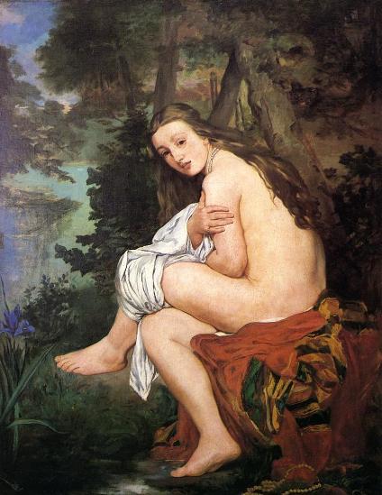 Niña sorprendida, Edouard Manet, Museo de Bellas Artes.
