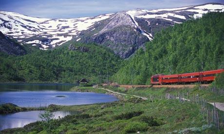 Los fiordos noruegos desde el tren