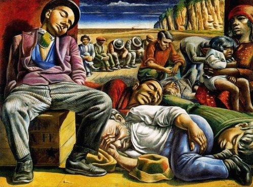 Los desocupados, Antonio Berni, Malba.