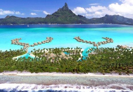 La vista de Bora Bora