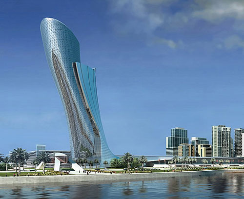 El Capital Gate de Abu Dhabi