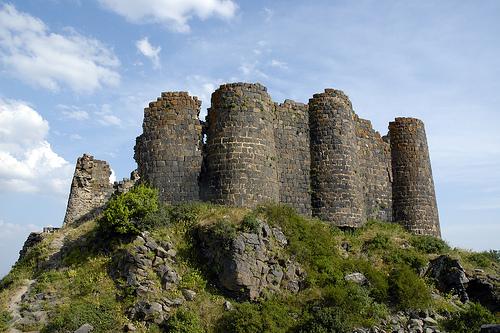 Las ruinas del Castillo Amberd, en Armenia