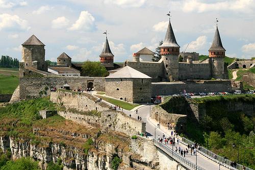 castillo de kamianets en Ucrania
