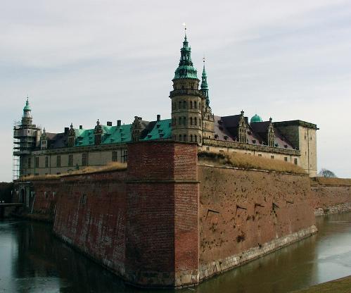 El castillo de Kronborg, en Helsingor