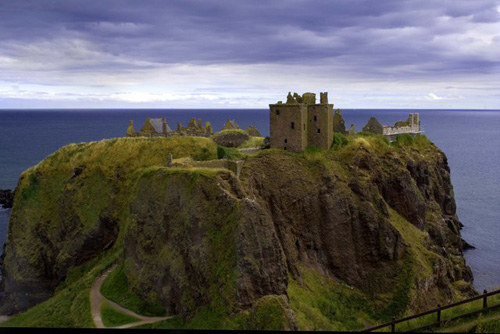Dunnottar, un castillo sobre la costa escocesa