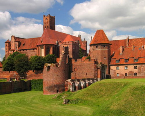 El castillo Malbork en Polonia