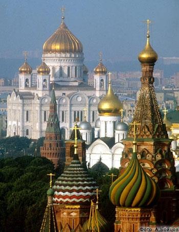 La Catedral de Cristo Salvador en Moscu