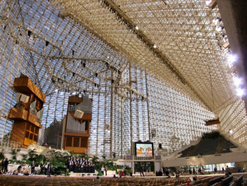 catedral de cristal interior
