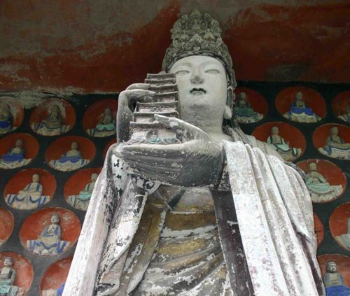 Esculturas rupestres en Dazu, China