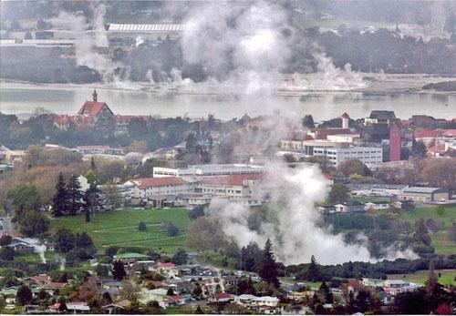 Rotorua, la ciudad neozelandesa de aguas termales