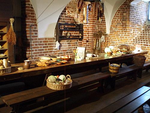 Cocina del castillo Malbork en Polonia