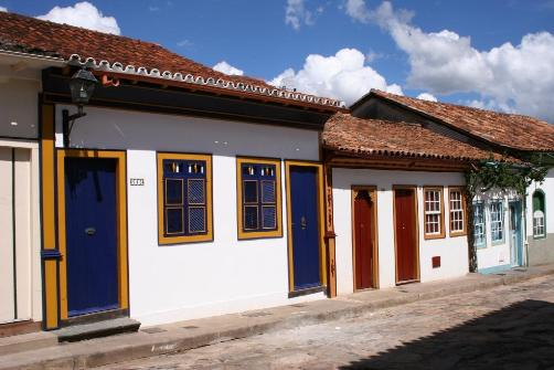 El centro histórico de Diamantina, Brasil