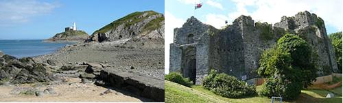 Faro y Castillo de Mumbles
