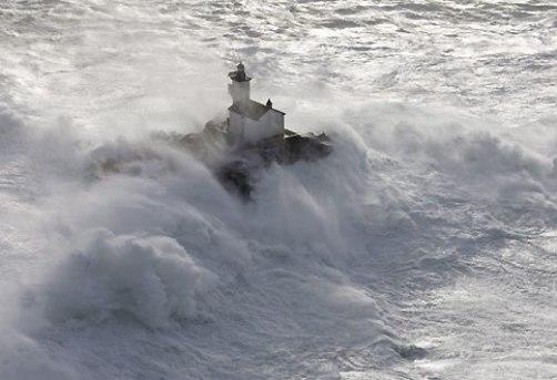 Video de un temporal en Bretaña