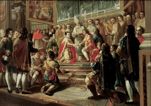 Matrimonio de Felipe III y Margarita de Austria en la catedral de Valencia