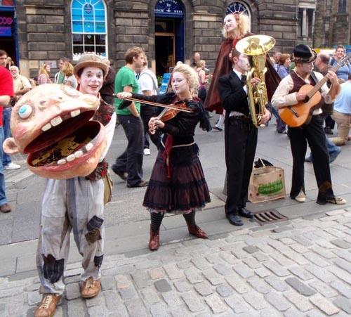El Festival de Edimburgo, arte en las calles