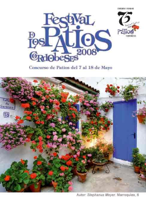 Cartel del Festival de los Patios de Córdoba 2008