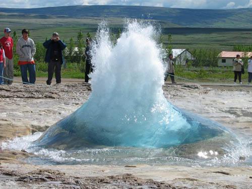 geyser en Islandia