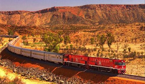 El Ghan, un tren turístico en Australia