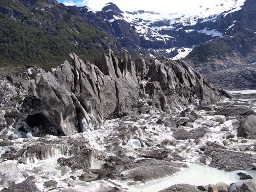 glaciar negro cerro tronador
