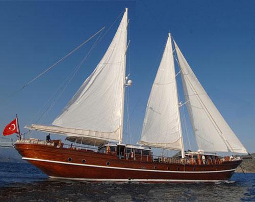 Navegar en goleta por la costa turca