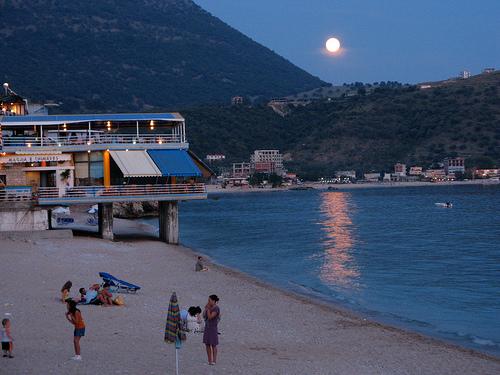Himara, en la costa de Albania