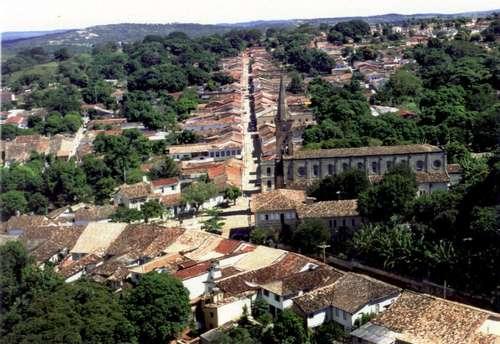 Centro histórico de Goiás, en Brasil
