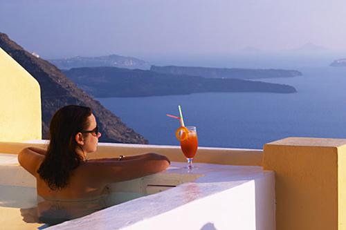 El mejor alojamiento de las islas griegas: hotel Santorini Princess