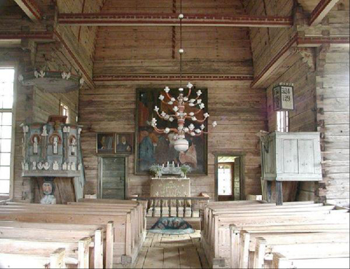 iglesia petajavesi interior