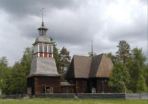 Iglesia Petajavesi en Finlandia