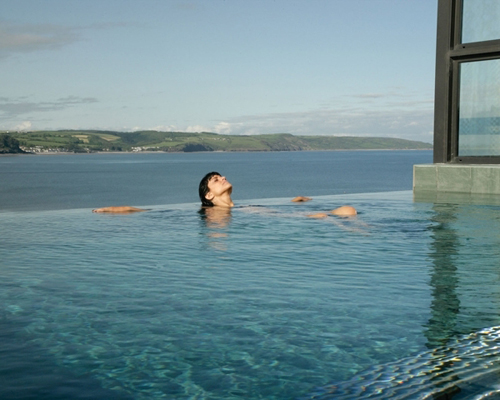 St Brides hotel spa. Infinity Pool