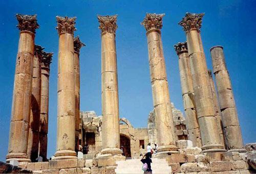 Jerash, antigua ciudad en Jordania