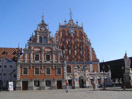 Blackheads House, gótico en Riga