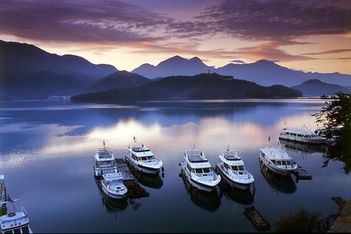 El hermoso lago Sol Luna, en Taiwán