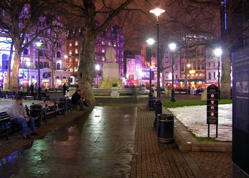 Leicester Square, centro del cine en Londres