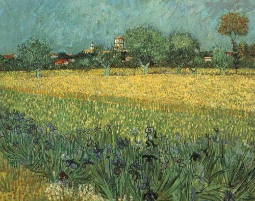 Vista de Arles con Iris, Vincent Van Gogh