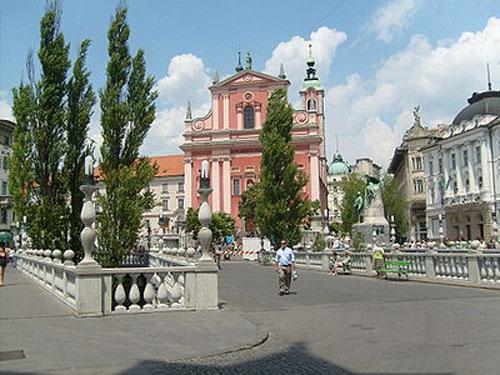 Plaza del Congreso en Ljubliana