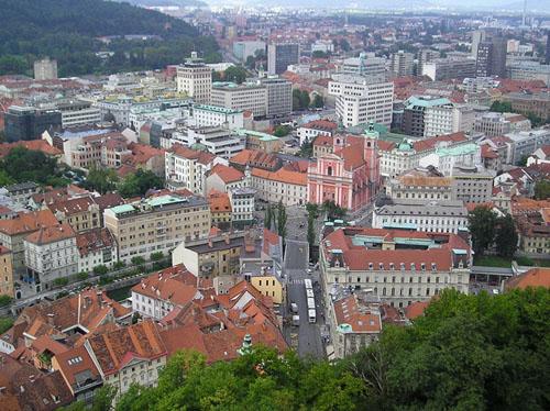 La Plaza del Congreso en Liubliana, Eslovenia