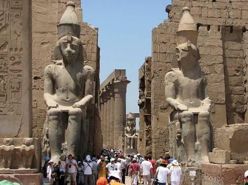 Ingreso al Templo de Luxor