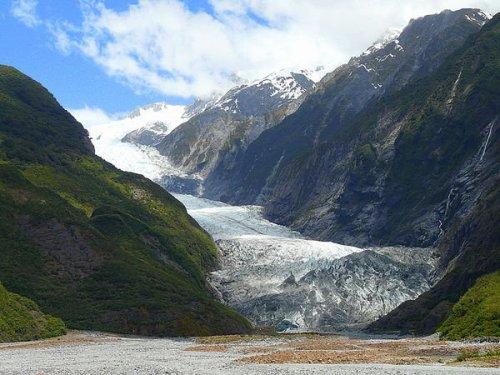 El Glaciar Franz Josef, en Nueva Zelanda