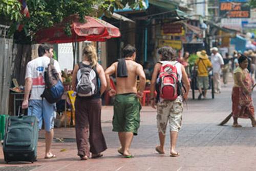De mochilero en Tailandia